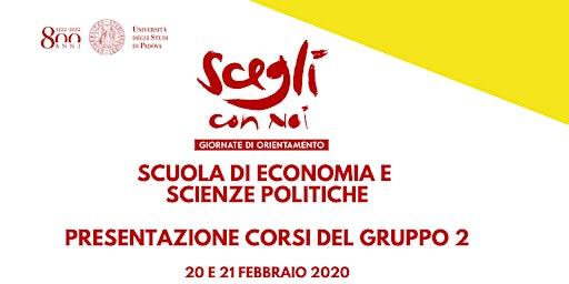SCEGLI CON NOI - ECONOMIA E SCIENZE POLITICHE - Gruppo 2