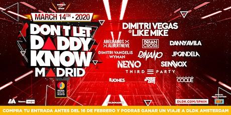 Don't Let Daddy Know Madrid 2020 #DLDKSPAIN entradas