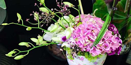 Flower Arranging Demonstration - Rathdown School - Habitat for Humanity
