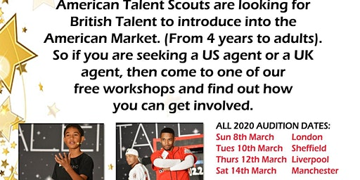 Sheffield Workshop Audition Actors/Singers/Dancers/Models Ages 4 to adult