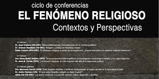 """Ciclo de conferencias """"El fenómeno religioso. Contextos y Perspectivas"""""""