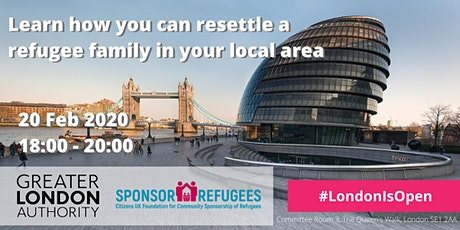 Learn how you can resettle a refugee family in your local area tickets