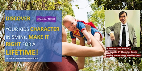 *Highly Recomm!* Discover Your Kids Character, Make It Right For Lifetime! tickets