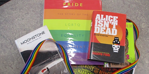 LGBT+ History Month display (Colne)