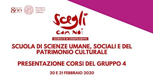 SCEGLI CON NOI - SCIENZE UMANE, SOCIALI E DEL PATRIMONIO CULTURALE Gruppo 4