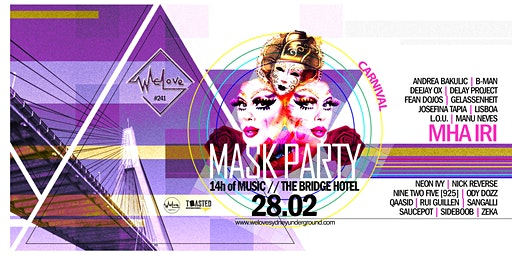 WeLove at The Bridge Hotel // Carnival Mask Party