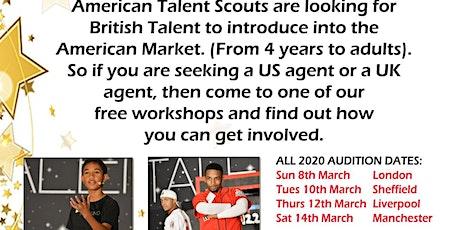Manchester Workshop Audition Actors/Singers/Dancers/Models Ages 4 to adult tickets