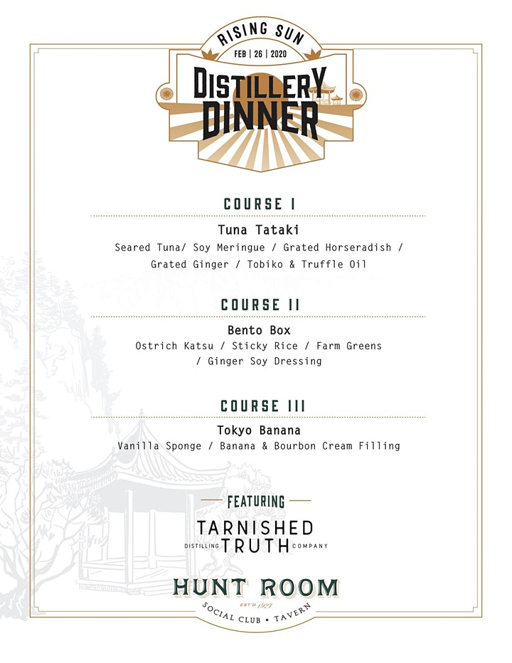 Japanese Distillery Dinner featuring Tarnished Truth Distilling Co. image