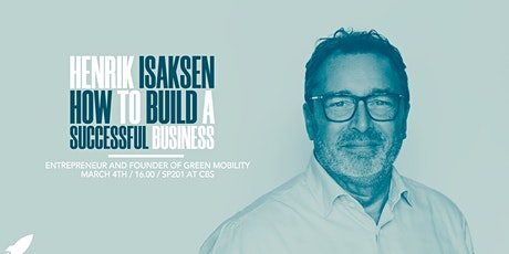 Henrik Isaksen: How to Build a Successful Business tickets
