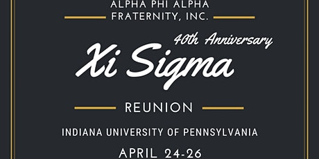 Xi Sigma Chapter Reunion  tickets