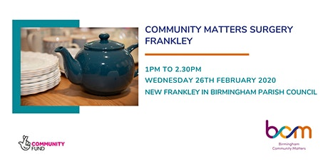 Frankley Community Matters Surgery - BCM tickets