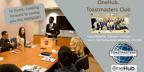 """One"" Leadership Series - OneHub. Toastmasters Club - Feb.10, 2020 tickets"