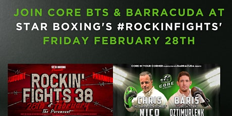 Core In Your Corner at Star Boxing's Rockin Fights' tickets