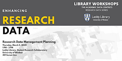 Research Data Workshop #5: Research Data Management Planning