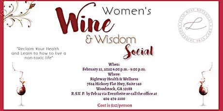 Women's Wine & Wisdom Social tickets