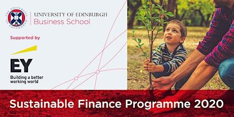 Sustainable Finance Programme 2020 tickets