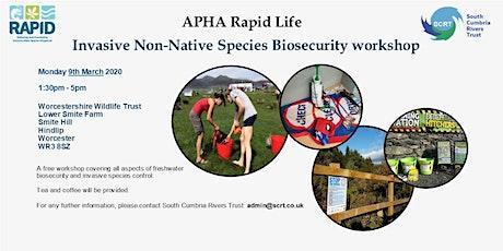 Invasive non-native species - Bio-security workshop tickets