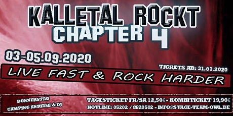Kalletal Rockt Chapter 4 - Festival 2020 Tickets