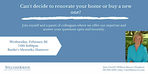 Renovate or Move? A real estate class to answer all of your questions!