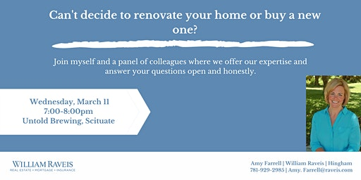 Renovate or Move? A real estate class to answer all your questions.