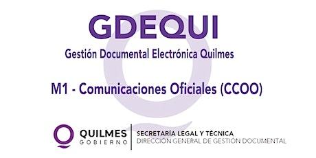 MODULO 1: COMUNICACIONES OFICIALES (CCOO) entradas