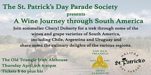 A Wine Journey Through South America - St. Patrick's Day Parade Fundraiser