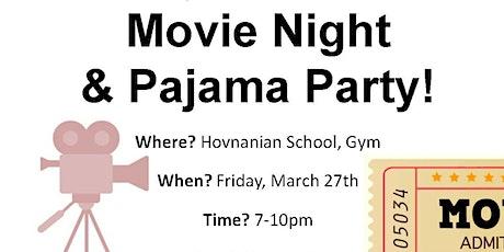Movie Night and Pajama Party tickets