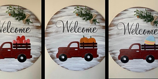 Interchangeable Welcome Sign