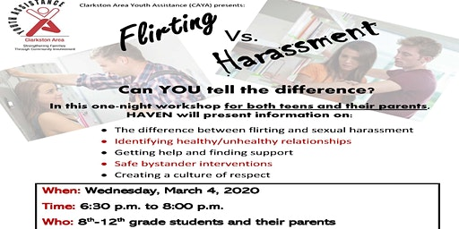 Flirting vs. Harassment - Can YOU tell the difference?