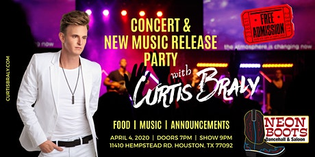 Curtis Braly Concert & Release Party at Neon Boots! tickets