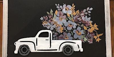 3-D Pickup Truck Chalkboard