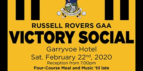 Russell Rovers Victory Social 2020 tickets