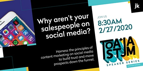 Why aren't your salespeople on social media? tickets