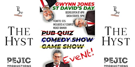 Gwynn Jones St Davids Day at The Hyst tickets