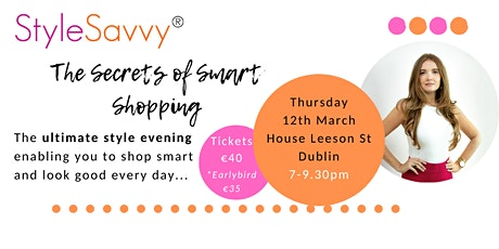 StyleSavvy Secrets of Smart Shopping tickets