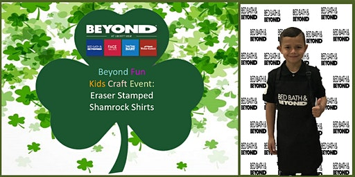 Beyond Fun Kids Craft Event-Eraser Stamped Shamrock Shirts