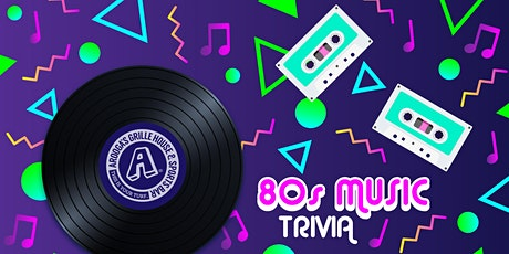 Arooga's Shelton '80's Music' Trivia Night - Win Great Prizes tickets