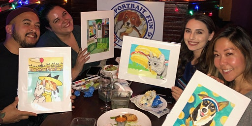 Paint and Sip Pet Portrait Fun -Barking Dog NEW YORK