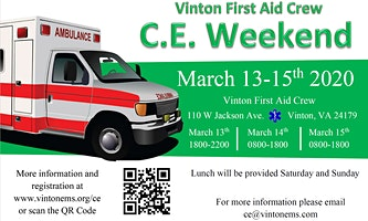 Vinton Continuing Education Weekend