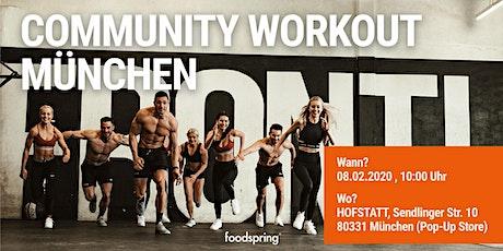 foodspring Community Workout München tickets