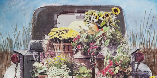 Farmer's Market Truck Canvas