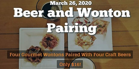 Wonton and Beer Pairing tickets
