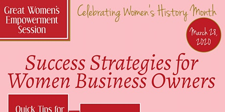 Success Strategies for Women Business Owners tickets