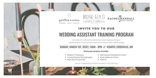 Wedding Assistant Training Workshop