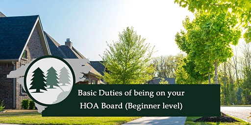 Basic Duties of being on your HOA Board (Beginner level)