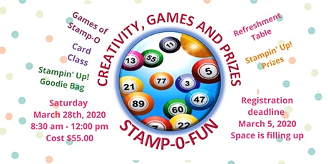 Stamp-O-Fun, Creativity, Stamping and Prizes tickets