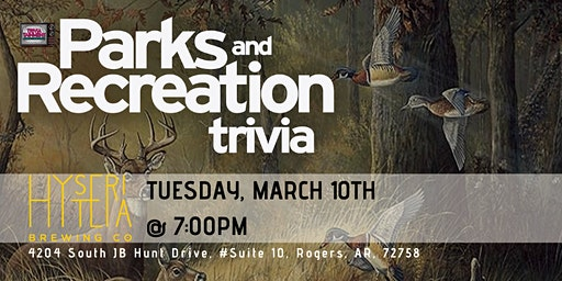 Parks & Rec Trivia at Hysteria Brewing Company