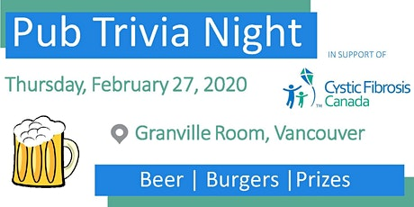 Pub Trivia Night - In Support of CF Canada tickets
