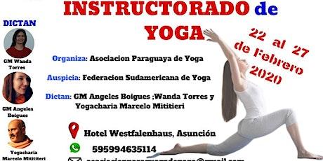 Instructorado de Yoga entradas