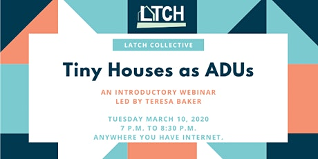Tiny Houses as ADUs Webinar tickets